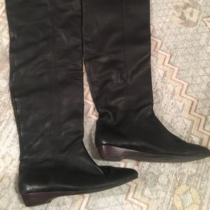 Dolce Vita DV 7 Over the Knee Black Leather Boots
